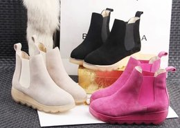 2016 Fashion Slip On Hiking Motorcycle Boots Short Ankle Boots Women Genuine Leather Shoes, Sz 35-40