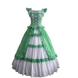 (GT018) short Sleeve Gothic Victorian Lolita Prom Dress Ball Gown Fancy Dress Halloween Party Costume XS S M L XL XXL