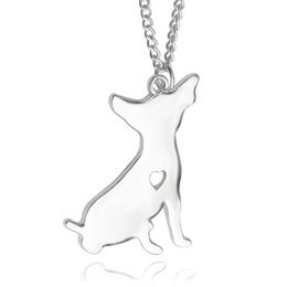 Wholesale 2016 American pit bull Welsh Corgi pendant Silver Necklace Small Necklaces Pendants Women Handmade Animal Factory ZJ