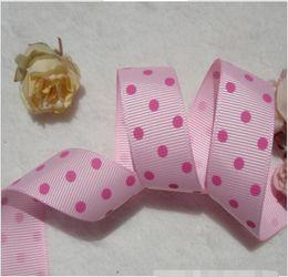 15% off! 100 yards 7 8 inch Polka Dots Printed Grosgrain Ribbon,Gift packaging, wedding decoration, DIY handmade bowknot materials,2 style