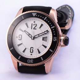 1767 Bliger 43mm White Dial Date Rose Gold Steel Case Automatic Men's WristWatch