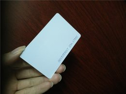 Wholesale rfid cards blank rfid access Control Card KHZ PVC CR80 standard ID CARD from factory with TK4100 EM4100 chips for door lock