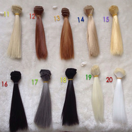 Wholesale 20PCS LOT Multi-color DIY BJD SD Straight Doll Wigs Synthetic Hair For Dolls