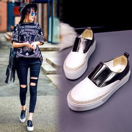 Caoutchouc respirante à vendre-2016 Nouvelle Automne Mode Chaussures De Femmes Respirant Flat Petite Chaussures Blanches Caoutchouc College Vent Basse Basse Femmes Occasionnels Chaussures