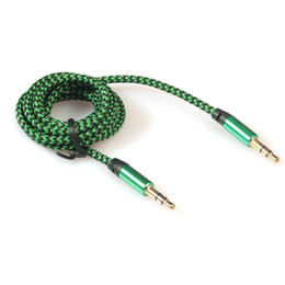 3.5mm Stereo Car Auxiliary Audio Cable Male To Male for Smart Phone 5 Color by free DHL FEDEX shipping