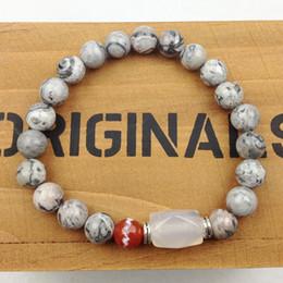 SN0624 Hot Sale Deisgner Bracelet Natural Maple Jasper Stone Bracelet Yoga Bracelet High Quality Jewelry Wholesale