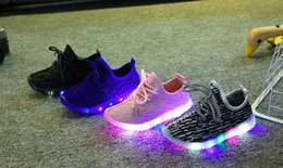 Wholesale 2016 New Autumn Winter Boys Girls LED Light Casual Shoes Skate Children Kids Light Up Shoes