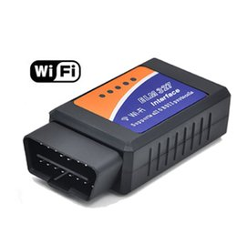 Wholesale Free DHL Latest Version WIFI OBD V2 ELM327 OBD2 Auto Scanner OBDII Car ELM Tester Diagnostic Tool for Android Windows Symbian