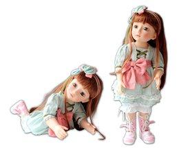 Muñecas bjd en Línea-45cm Nuevo vinilo SD / BJD muñeca Reborn juguetes Lifelike mano bebé muñeca Inicio Brinquedos Babies's Gifts