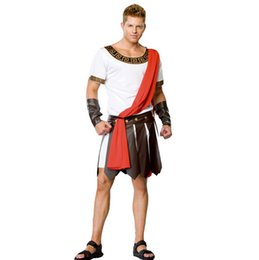 Wholesale Ancient Roman Warrior Costumes Masquerade Party Men Costume Gladiators Knight Julius Caesar Adult Cosplay Theme Cotume C47139149