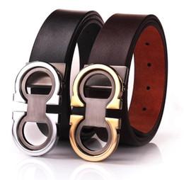 Cinturones de cuero en venta-Las nuevas correas del hombre de la marca de fábrica de la manera califican las correas de cintura genuinas del cuero para el diseñador de lujo del mens La correa lisa de la cadera del vaquero de la hebilla de la hebilla