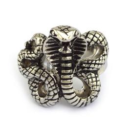 2016 New Design Animal Ring Rattlesnake Ring In Stainless Steel Metal Free Shipping Punk Rock Ring