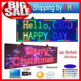 Wholesale FULL COLOR RGB Programmable Led Signs P10 smd Outdoor led Scrolling Message Display high brightness LED display