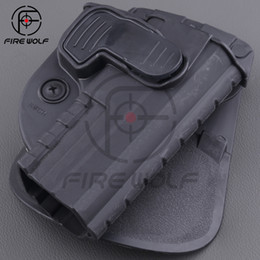 Wholesale 2016 Right Hand Belt Loop Paddle SWCH Rapid Release System Belt Holster Fits Tactical Gun M P