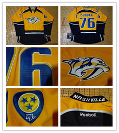 Wholesale NHL Nashville Predators P K SUBBAN Johansen Neal Yellow Hockey Jerseys Stitched Mix Order