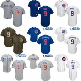 Wholesale Men s Chicago Cubs Javier Baez Alternate Road Cool Base Flexbase Authentic Collection baseball Jersey stitched s xl