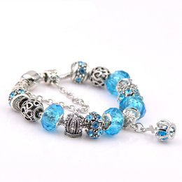 Charm bracelets for women gifts Mix colors charm Bracelets & Bangles Brand Jewelry European Crystal Beads bracelet