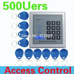 2017 entrée de la porte de sécurité Vente en gros-Haute qualité et haute sécurité Sécurité RFID Proximité Entrée Serrure de porte Système de contrôle d'accès 500 Utilisateur +10 Touches LIVRAISON GRATUITE entrée de la porte de sécurité à vendre