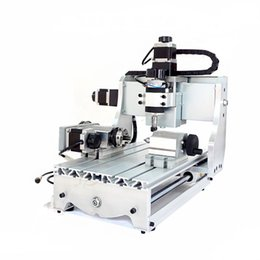 Wholesale 4 Axis CNC Router T Mini CNC Engraving Machine for woodworking and PCB drilling V V W Spindle motor