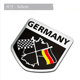 Wholesale Germany German Flag D Car Stickers Aluminium Emblem Badge Decal Sticker Racing Motorsports for VW Benz BMW Audi Motor Sticker