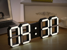 Wholesale Creative Remote Control Large LED Digital Wall Clock Modern Design Home Decor d Decoration Big Decorative Watch White Black