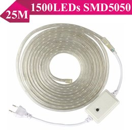 Canada NEW SMD5050 RGB LED Strip 110V-240V 25M 1500 LED Strips LED IP68 étanche LED Neon Sign lumière cheap ip68 led light strips Offre