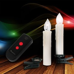10pcs Warm White Birthday Supply 2016 Christmas Wedding Tree Remote Control LED Candle Light Creative Process Led Electronic Rod Candles