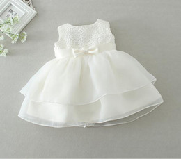 New 2016 retail Newborn baby girl Baptism Dress Christening Gown kids Girls' party Infant Princess wedding summer dresses