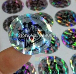 Wholesale Free design and production of d color change Security custom real hologram label sticker printing CM