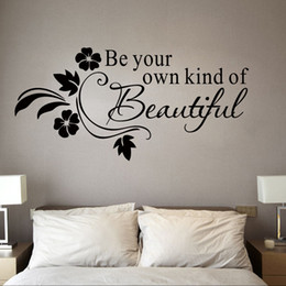 Wholesale Hot Sale Be Your Own Kind of Beautiful Vinyl Wall Lettering Stickers Quotes and Sayings Home Art Decor Decal