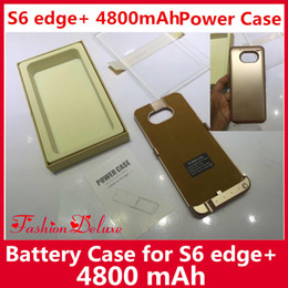 Wholesale External Battery Case Power Case mAh for S6 Edge Plus Best Portable Backup Charger Power Bank Case Pack for Samsung S6 Edge Plus