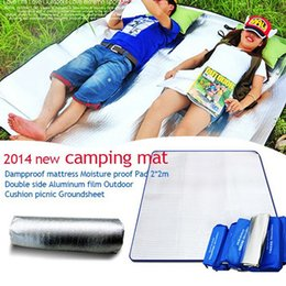 Wholesale x Waterproof Yoga Blanket Outdoor Aluminium Coating Camping tent mattress picnic blanket Mat cushion