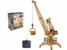 Wholesale Wire Control RC Crane Tower CH Simulation Tower Crane Degree Rotate Crane Engineer Construction Toys Christmas Gift