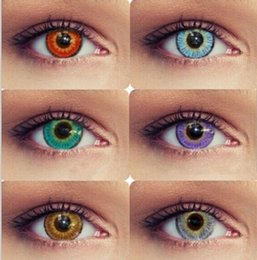 US Stock 3-tone fresh color blends contact lenses crazy lens   6 colors free shipping ready in stock