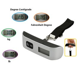 Wholesale Portable Handheld Max Weight kg Electronic Hook Scale with LCD for Home and Travel Use Include Temperture Gauge