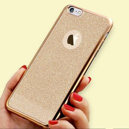 Argentina Lujo Brillante electrochapado Bling brillo TPU caso para el iPhone 6 6S 6Plus suave contraportada para Apple iPhone SE 5S Fundas Oro Rosa iphone cases bling pink for sale Suministro