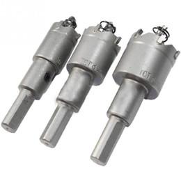 Forets en métal à vendre-New 1set / 3pcs 20 25 30mm Scie carbure Astuce TCT acier Drill Kit Bits pour Métal Bois Argent