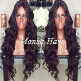 Natural hairline brazilian glueless full lace wigs human hair front lace wigs wavy natural color with baby hair