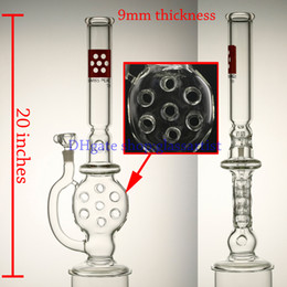 Wholesale 9mm high quality glass bong swiss perc mm female joint giving glass bowl