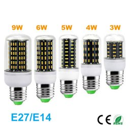 Wholesale New Led Corn Light Bulb E14 E27 screw base V V No flickering with clear cover High Brightness Cost Effective Led Lamp