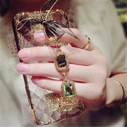 Luxury Design Cell Phone Cases Transparent Diamond Lattice Phone Covers with Chains for Xiaomi 5 4S 3 26