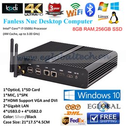 Wholesale Cheap Best th Gen CPU Intel Core i7 u G Fanless Mini PC Intel Nuc Desktop Computers Windows GB RAM GB SSD