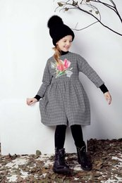 Wholesale Wl Monsoon Girl Dress Autumn Winter Designer Baby Girls Dress Floral Children Clothing Princess Dress Girls Clothes