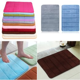 Top Selling 40x60cm Bath Mat Bathroom Bedroom Non-slip Mats Memory Foam Rug Shower Carpet for Bathroom Kitchen