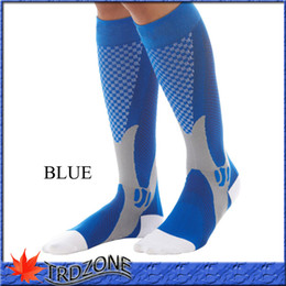 Wholesale cycling soccer socks Unisex Leg Support Stretch Magic Compression Fitness Football Basketball Socks Performance Sports Running pair