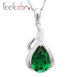 2014 Brand New Stylish Jewelry Women 3.5 ct High Quality Nano Russian Emerald Pendant Set Pure 925 Sterling Solid Silver