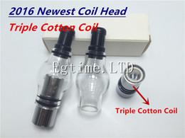 Triple Coils Glass Globe Atomizer Pyrex Glass Tank Triple Cotton Coil Replacment Core Head for Wax Glass Globe Atomizer Cannon Vase Atomizer