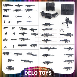 Wholesale 53 weapons set Plastic building blocks educational toys self assembly bricks for kids birthday present DE00030