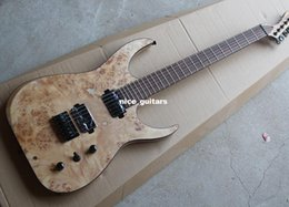 Wholesale 2016 Nice New String Electric Guitar with Ash Body and Burl grain Maple Veneer Black Hardwares Offer Customized