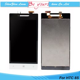 Wholesale for HTC S LCD Display Touch Screen Digitizer Assembly Without Frame Windows Phone S A620e LCD Screen Replacement Parts DHL